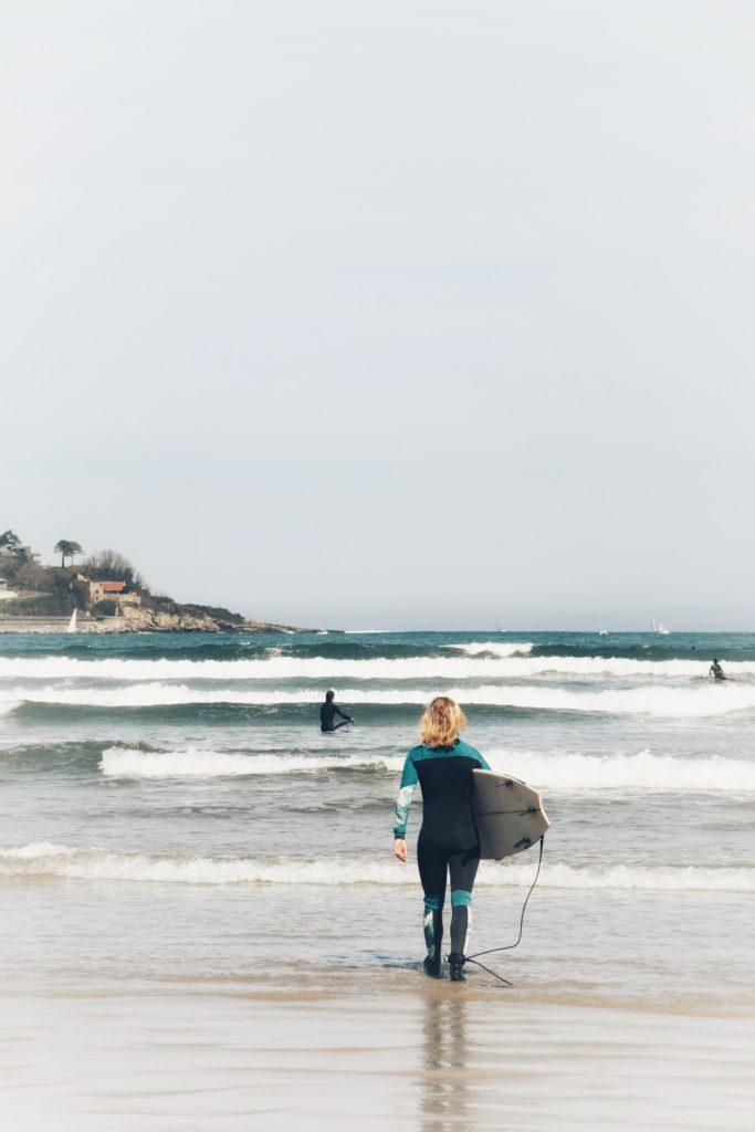 Hendaye Spot de Surf Débutant   Txiki COmbi Pays Basque original