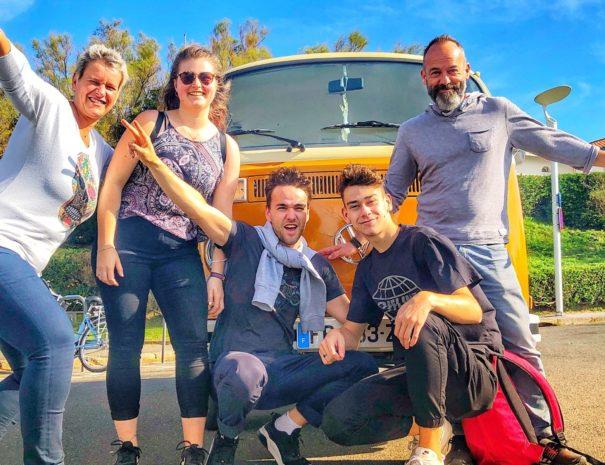 Visite Biarritz Bayonne Anglet en Combi VW - BAB A cool Tour Txiki combi