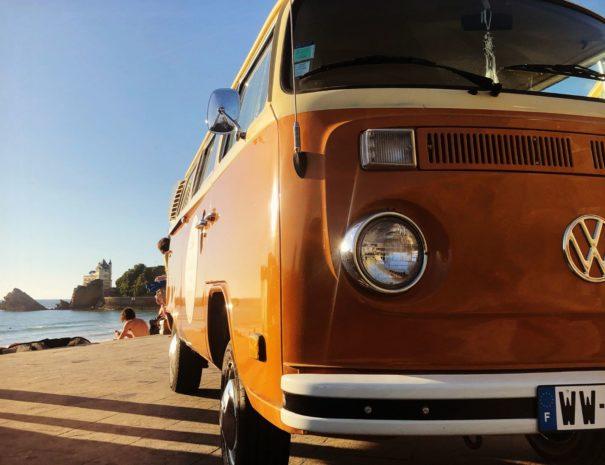 Visite guidée de biarritz en Combi VW Txiki Combi