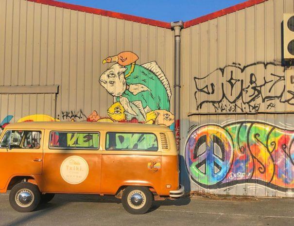 Graffiti biarritz - jeu orientation en combi