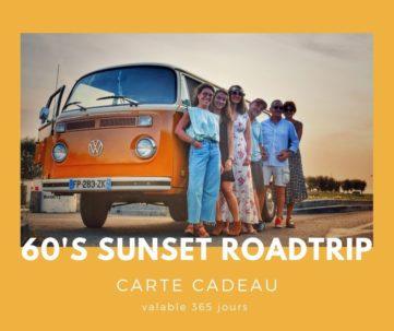 Carte cadeau txiki combi - 60's sunset roadtrip